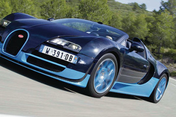 Bugatti action - motoring