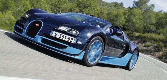 Bugatti action - motoring