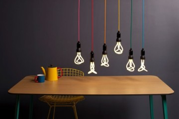 This Drop Cap pendant set by Plumen is a playful lighting collection.